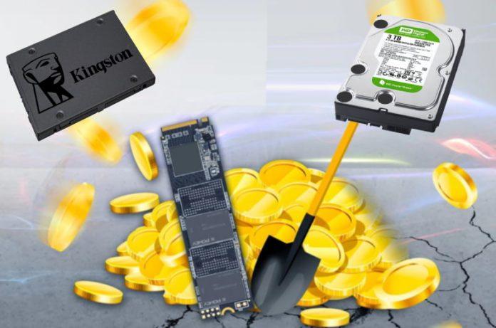 Nueva criptomoneda podría ocasionar falta de HDD y SSD