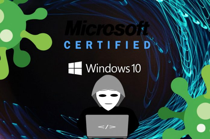 Virus no detectado fue certificado por Microsoft