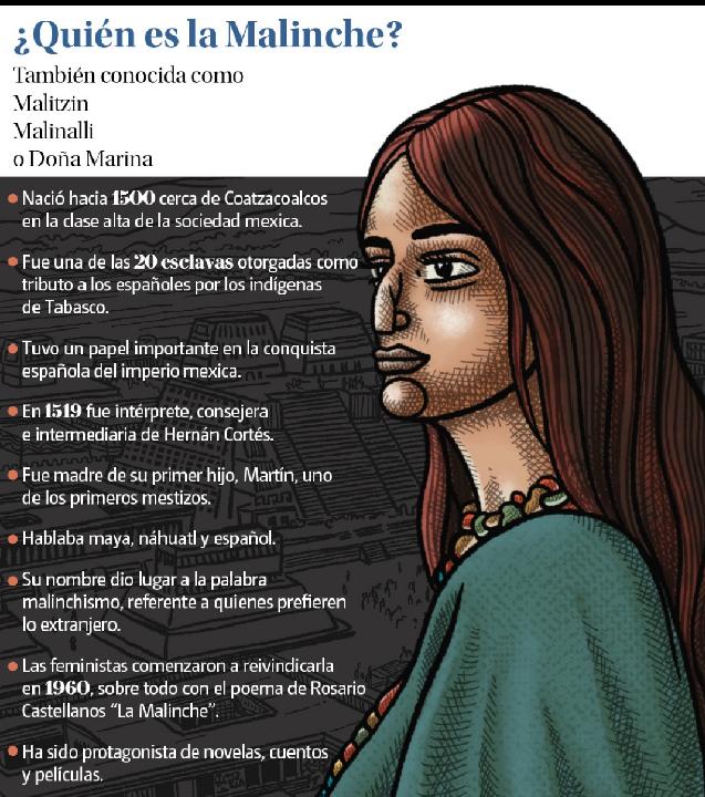 ¿Traidora Malinche, la traductora que asesoró a Hernán Cortés en la Conquista